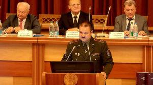 Заместитель НГШ ВС РБ по научной работе полковник Николай Бузин
