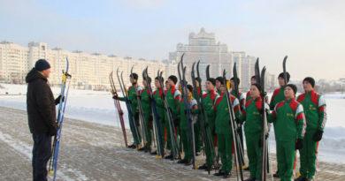 Минские суворовцы на лыжни