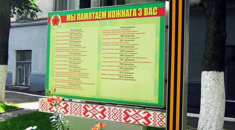 Аллея героев в Минском СВУ