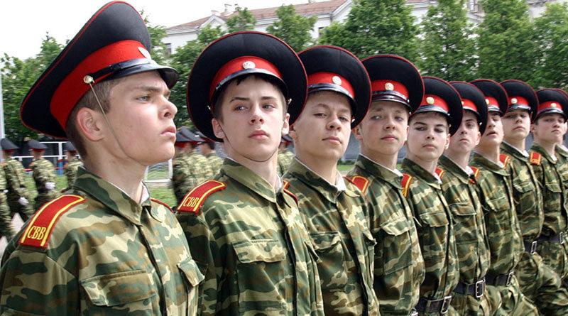 Подготовка суворовцев к параду